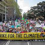 The Climate Strike march in Sydney. © Marcus Coblyn / Greenpeace