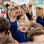Students Strike in Amsterdam © Maaike Schauer / Greenpeace