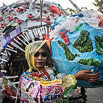 Plastic Monster Mass Rally in Jakarta. © Jurnasyanto Sukarno / Greenpeace