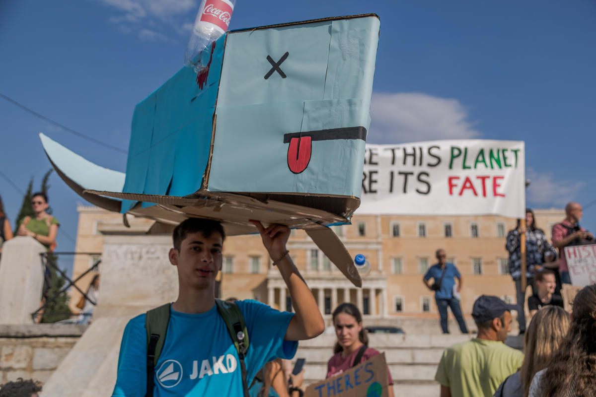 Global Climate Strike in Athens, Greece. © Constantinos Stathias / Greenpeace