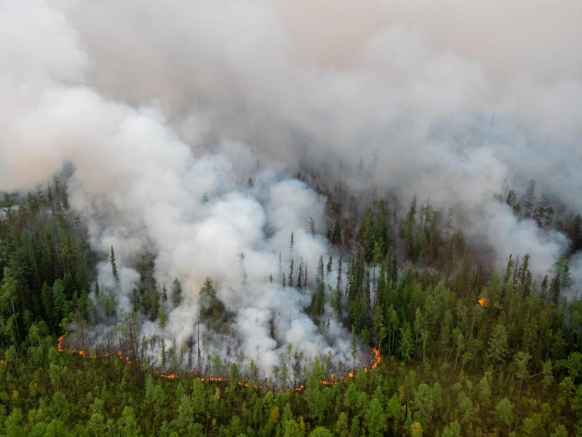 Forest Fires near Irkutsk Region in Russia. © Igor Podgorny / Greenpeace