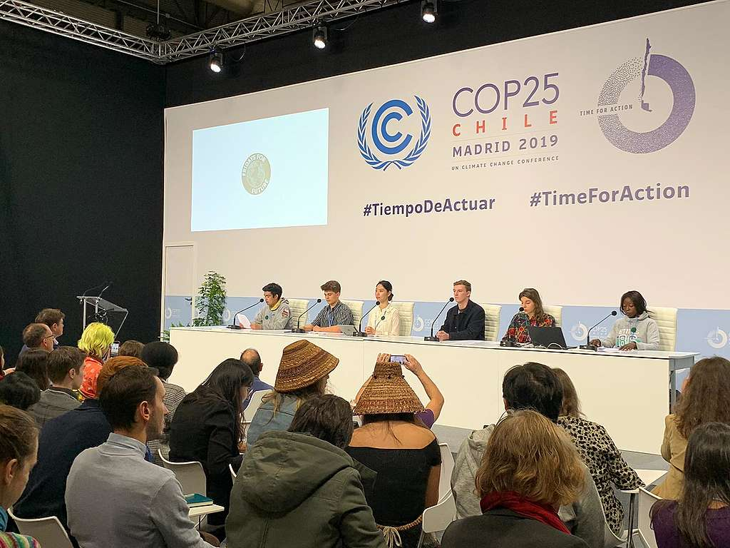 Friday's For Future Press Conference at the COP25 Climate Change Conference, 4 Dec 2019  © Bryher McKeown