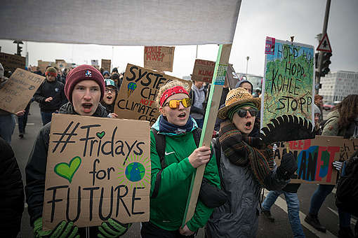 Student Strike for More Climate Protection in Berlin. © Gordon Welters / Greenpeace