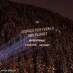 Greenpeace Justice Activity at the World Economic Forum in Davos, 2018, CREDIT: © Greenpeace / Lumina Obscura