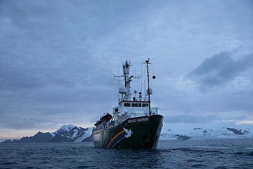 The Arctic Sunrise In Antarctica © Abbie Trayler-Smith / Greenpeace