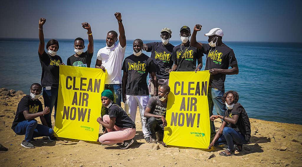 Clean Air Now in Dakar, Senegal. © Greenpeace