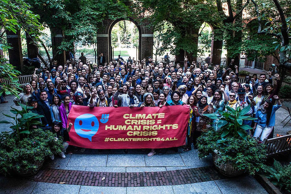 People's Summit on Climate, Rights and Human Survival in New York. © Tracie Williams / Greenpeace