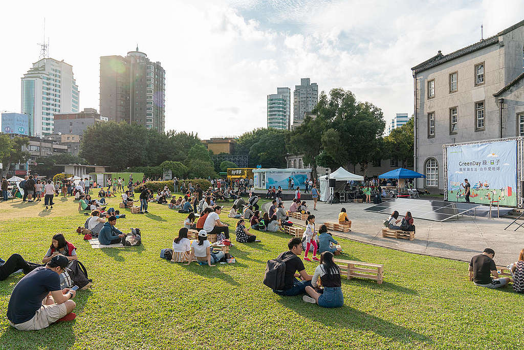 GreenDay Plastic-Free Picnic Event in Taiwan. © Greenpeace / Chong Kok Yew