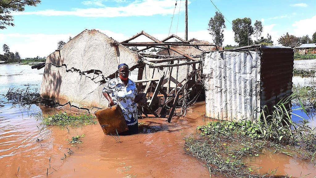 Floods in Migori and Homa Bay Counties in Kenya. © Greenpeace