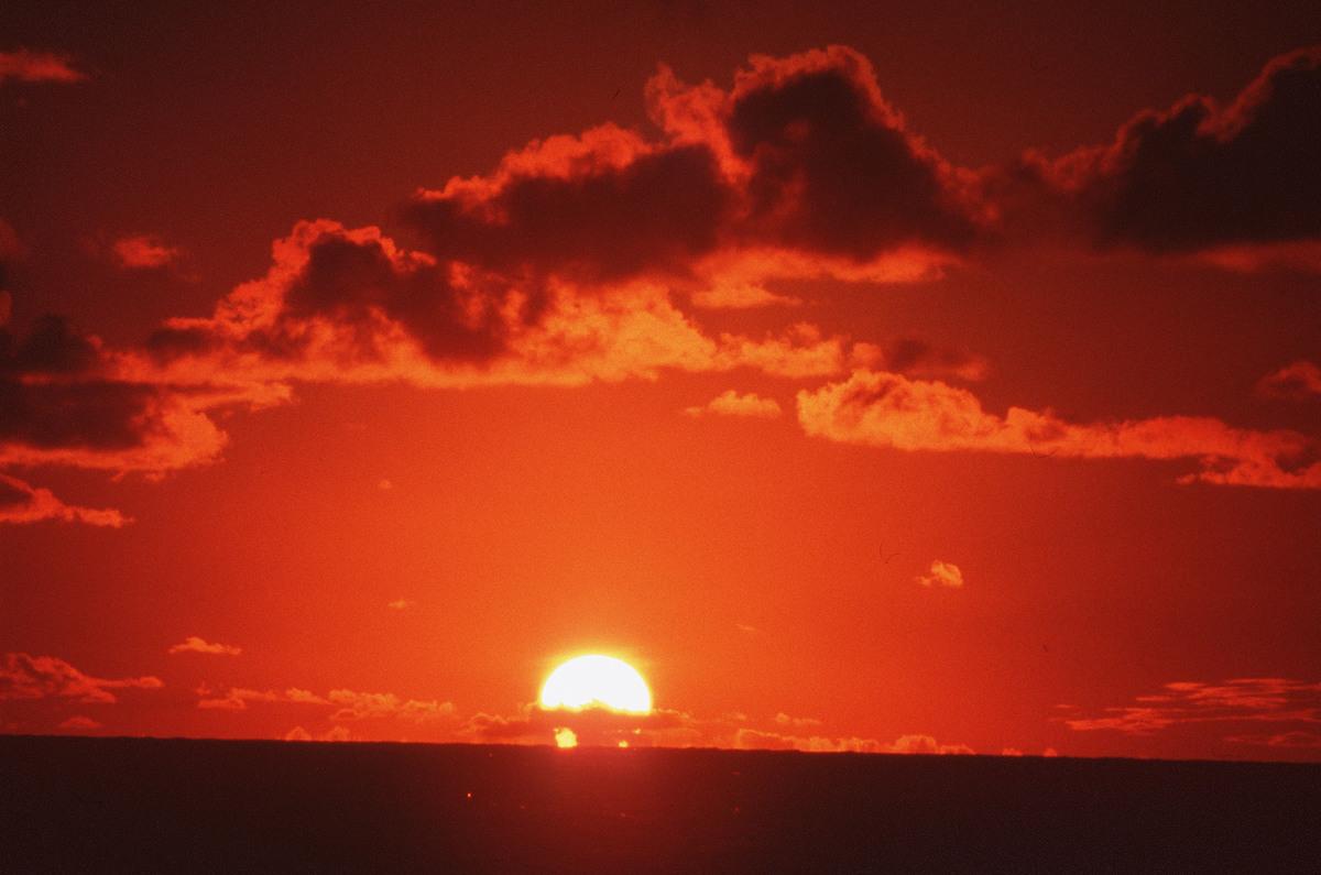 North Sea Sun Down