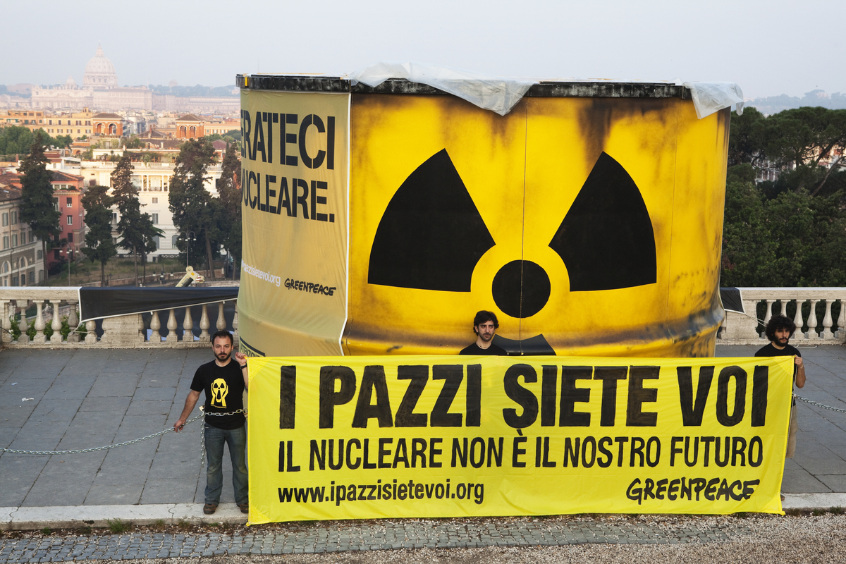 Anti-nuclear Protest Pincio in Rome. © Francesco Alesi