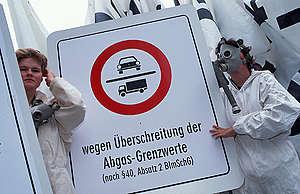 Action against Smog in Germany. © Paul Langrock