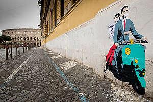 Clean Air Street Art Action in Rome. © Lorenzo Moscia