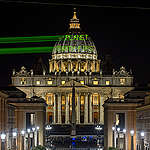 """""""Planet Earth First"""" Projection in Rome. © Bente Stachowske"""
