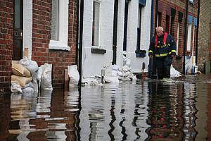 Flooding in Oxfordshire, UK. © Nick Cobbing
