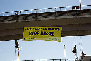 Stop Diesel Car Action in Rome. © Tommaso Galli