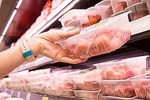 Meat in Supermarket in Germany. © Bodo Marks