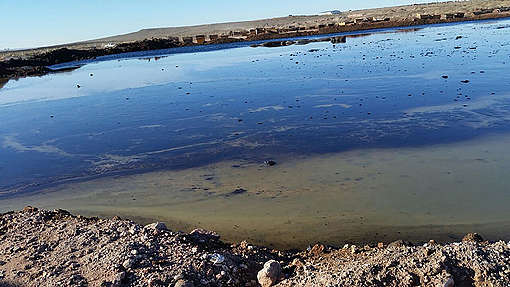 Toxic Fracking Waste Dumps in Vaca Muerta.