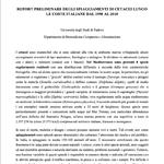 Report preliminare degli spiaggiamenti di cetacei lungo le coste italiane dal 1998 al 2018
