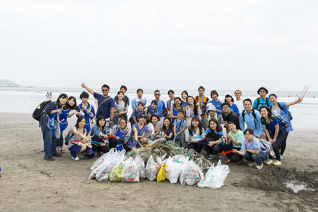 World Oceans Day Activity in Japan. © Chihiro Hashimoto / Greenpeace