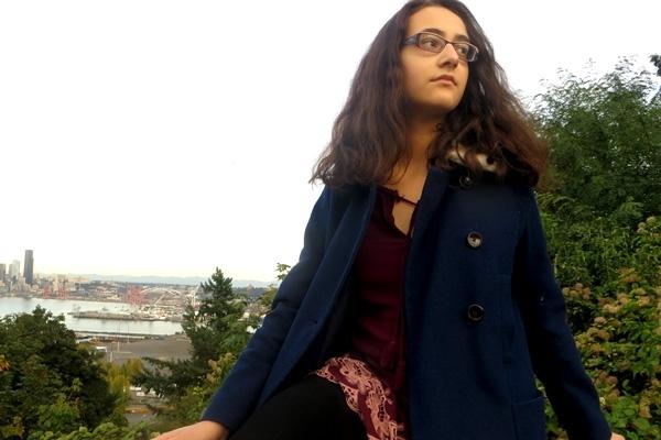 미국 시애틀에서 기후 행동을 펼치고 있는 청소년 활동가 제이미 마골린