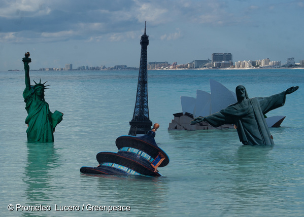 Submerged Iconic Monuments at COP16