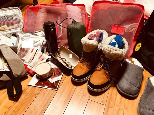 남극 여행을 위한 짐