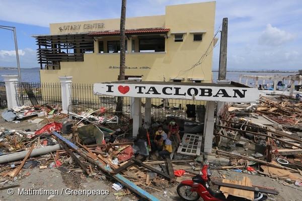 태풍의 피해를 받았던 타클로반의 모습