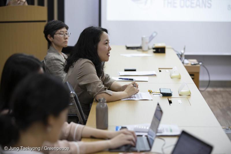 외교부 국제법규과 정소현 외무사무관이 질의에 응답하고 있다.