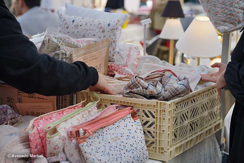 아보카도 마켓에서 판매하는 다양한 생활소품들