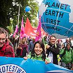 G20 Protest Wave Rally in HamburgG20 Protestwelle demonstriert in Hamburg