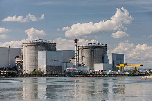 Nuclear Power Plant Fessenheim in France. © Bernd Lauter