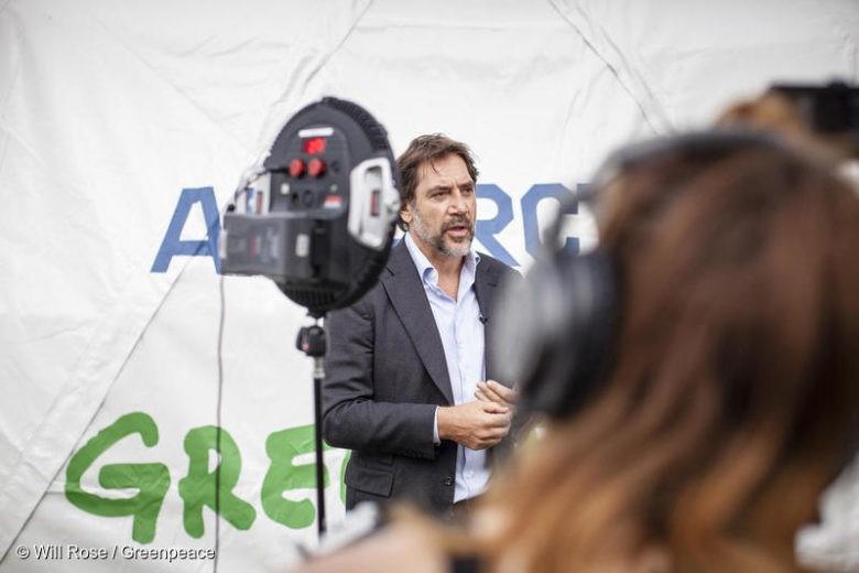 L'acteur Javier Bardem est présent à Cambridge, aux côtés de Greenpeace, pour soutenir une proposition ambitieuse pour la création d'une réserve marine dans l'océan Antarctique.