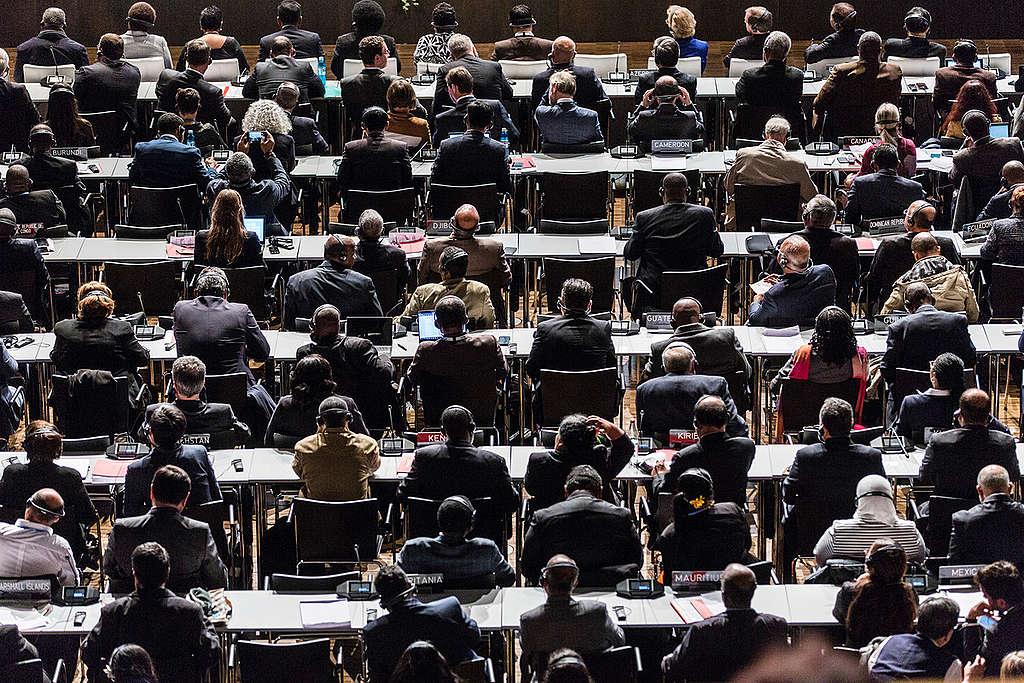 Inside Conference Centre at COP23 in Bonn. © Bernd Lauter