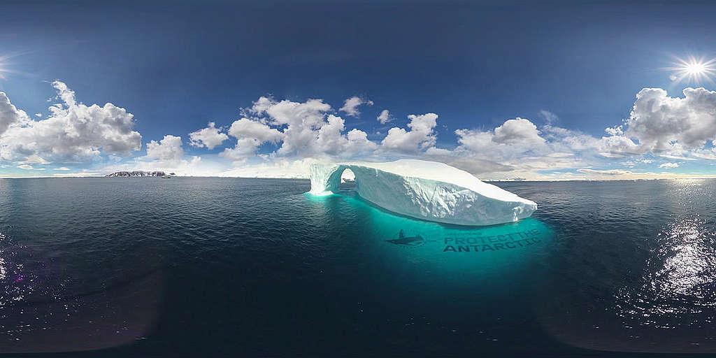Cathédrale Iceberg 360 ° avec Macro
