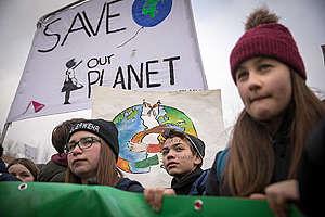 Jeunesse en grève pour le climat à Berlin.