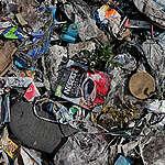 Plastikmülldeponie in Dumaguete, Philippinen