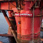 Protest an der BP-Plattform gegen weitere Bohrungen nach Öl