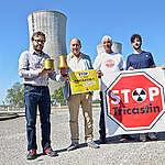 Remise du Trophée de la cuve la plus fissurée à Tricastin, France