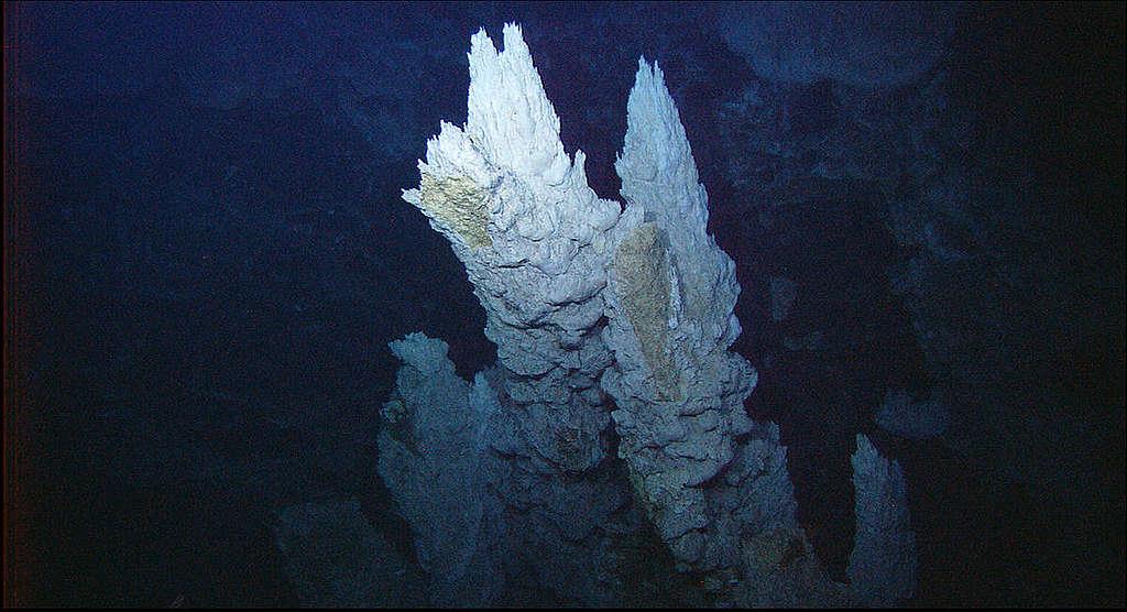 Cheminée hydrothermale de Lost City.