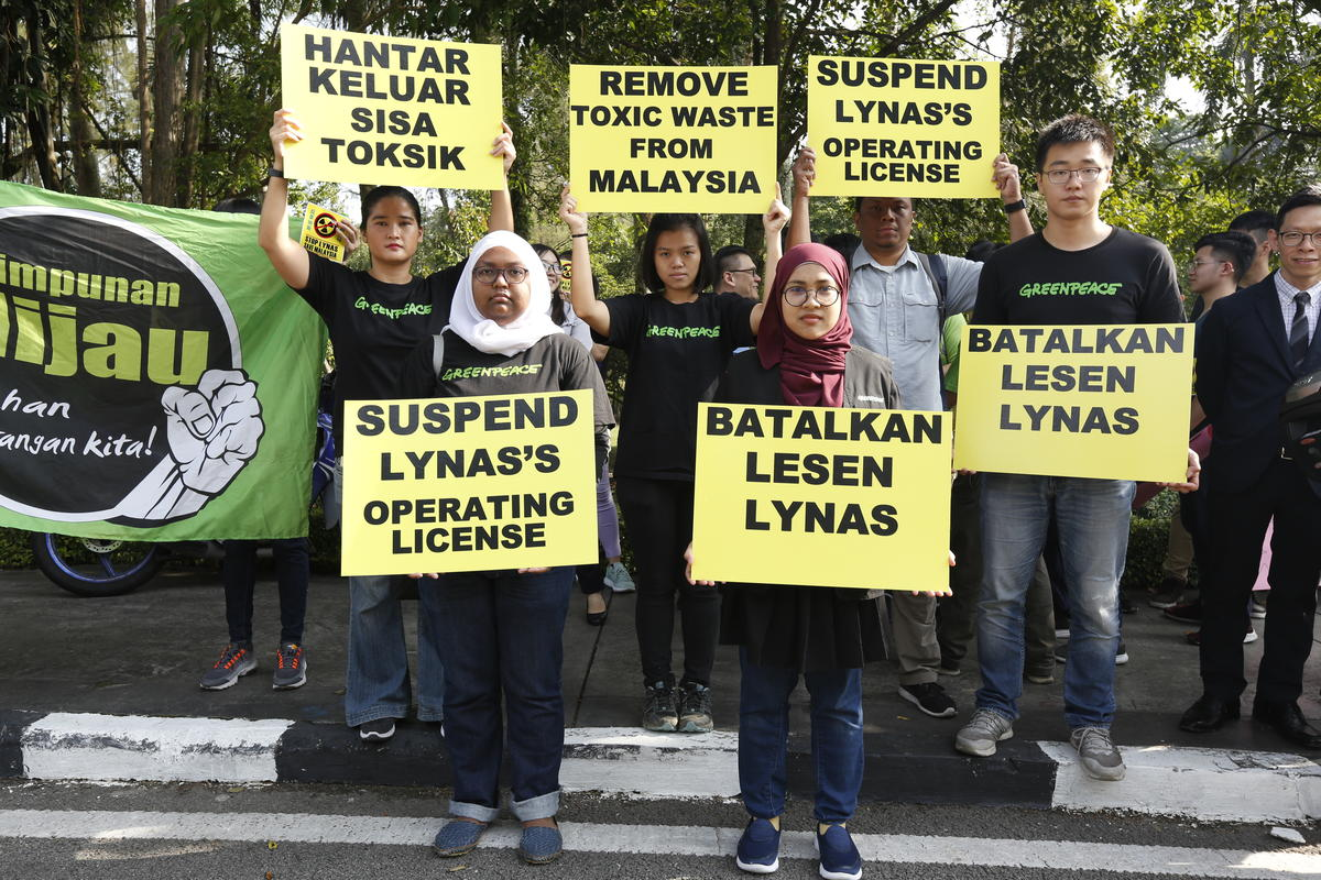 Protest at Government Office in Kuala Lumpur. © Nandakumar S. Haridas / Greenpeace
