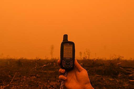 Forest Fires in PT WKS, Jambi. © Muhammad Adimaja / Greenpeace