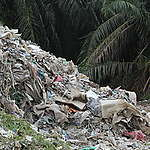 UK Plastic Waste near Wespack Recycling Factory, Malaysia. © Greenpeace