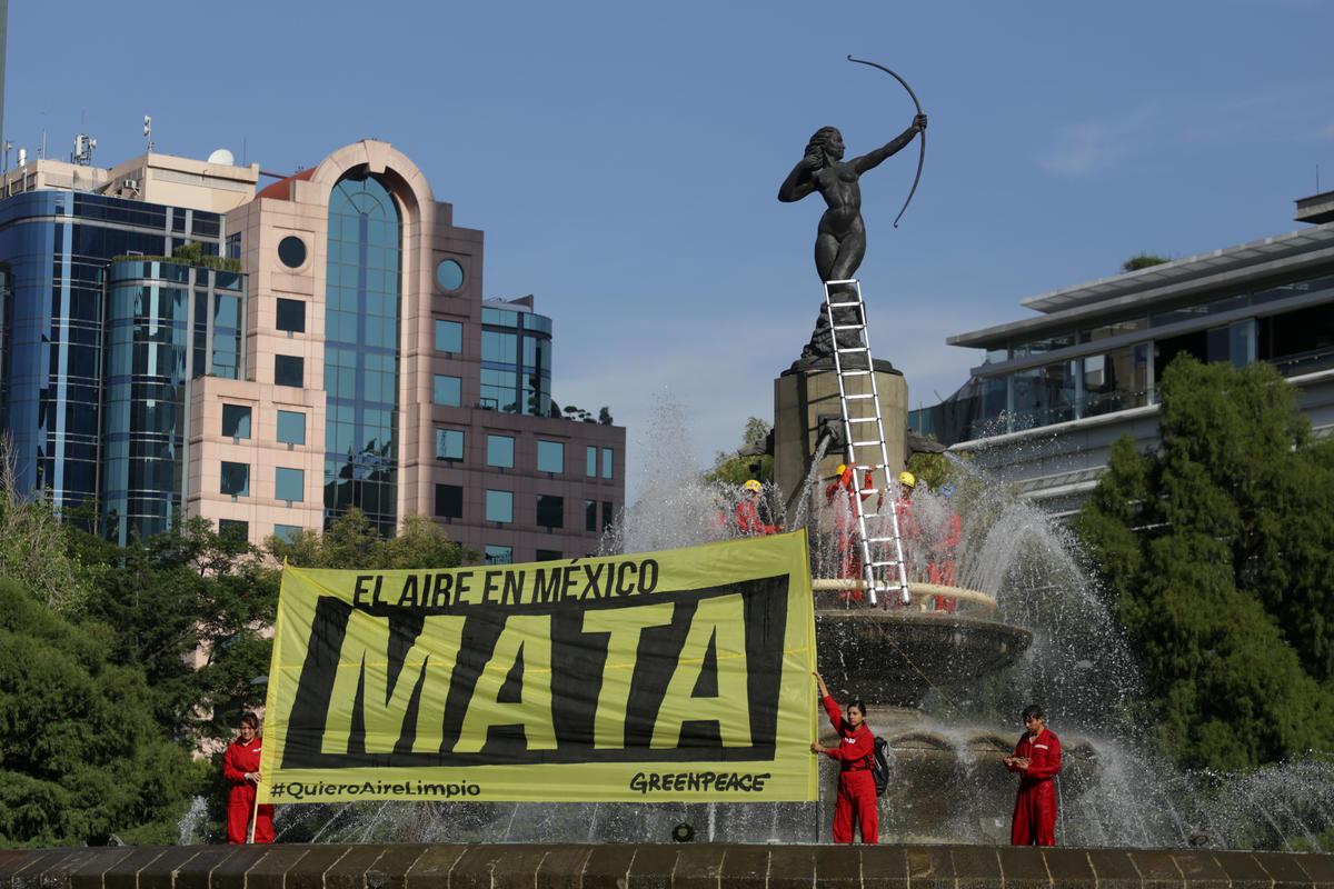 Protesta en México por la mala calidad del aire