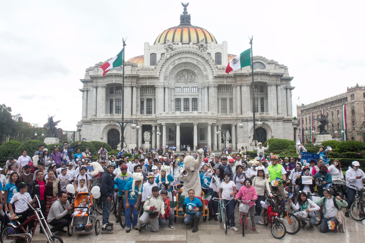 Save the Arctic Ice Ride in Mexico. © Jesus Villaseca
