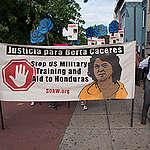 Justice for Berta Cáceres March in Washington D.C. © Livia Ferguson