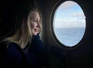 Fanny Jönsson, coordinadora de comunicaciones de Greenpeace Nordic a bordo del Arctic Sunrise.