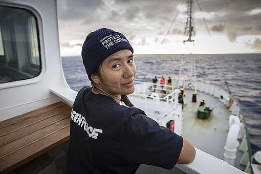 """Sam, voluntaria mexicana en la expedición """"Pollo a polo"""""""