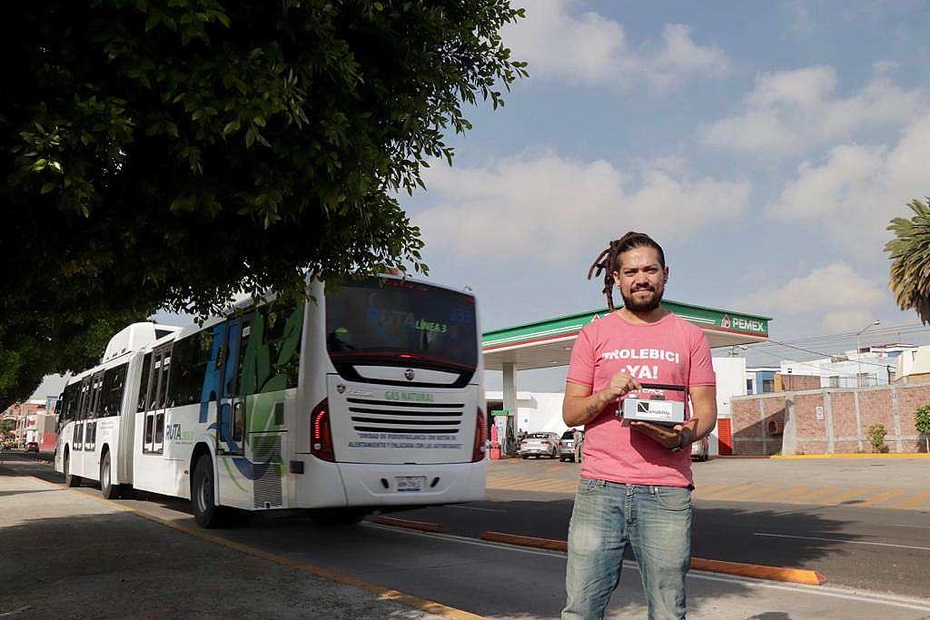 Monitoreo de caidad del aire en Puebla / Transporte público