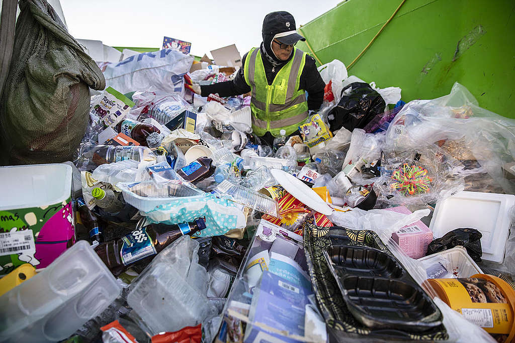 From Collecting Plastic Waste to Sorting in South Korea. © Soojung Do / Greenpeace